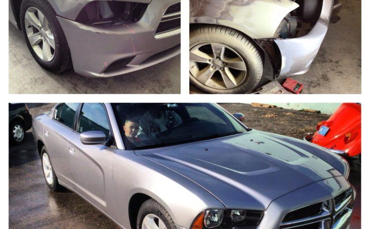 This customer got bumpers repaired, mirrors & new door handles